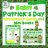 St. Patrick's Day Vocabulary Cards and Mini Books BUNDLE