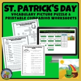 St. Patrick's Day Vocabulary Mystery Picture Puzzle Google Sheets