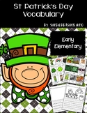 St Patrick's Day   Vocabulary Words   Writing Centers