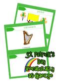 FREE St Patrick's Day Vocabulary as Gaeilge