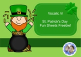 St. Patrick's Day Vocalic /r/ Fun Sheets
