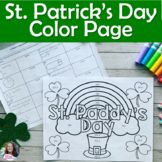 St. Patrick's Day Volume of Cylinders, Cones, & Spheres Color Sheet Activity