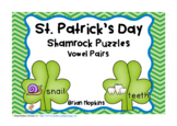 St. Patrick's Day Vowel Pairs Puzzles
