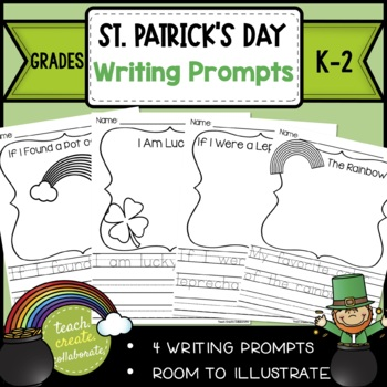 St. Patrick's Day WRITING- PRINT & GO! If I Found a Pot of Gold {KINDERGARTEN}