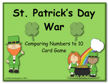 St. Patrick's Day War (A Comparing Numbers to 10 Card Game)