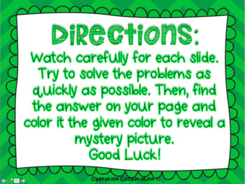 St. Patrick's Day Watch, Think, Color!