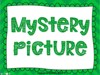 St. Patrick's Day Whole Group Mystery Picture!