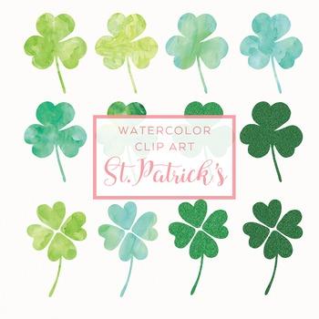 St.Patrick's Day Watercolor Clip Art