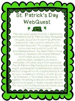 St. Patrick's Day WebQuest - Engaging Internet Activity {Includes Google Slides}