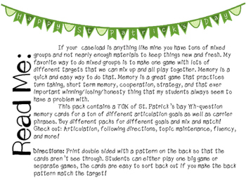 St. Patrick's Day Wh-Questions for Mixed Groups - 20% off for 48 hours!