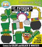 St. Patrick's Day Wooden Block Rods Clipart {Zip-A-Dee-Doo-Dah Designs}