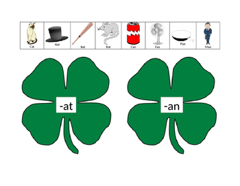 St. Patrick's Day Word Families
