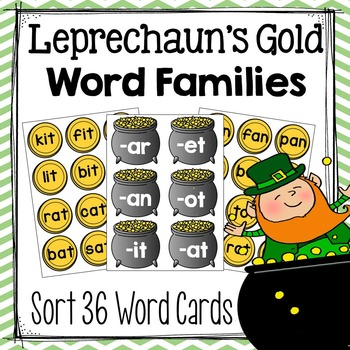St. Patrick's Day Word Family Sort