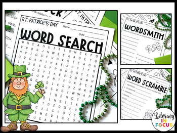 St. Patrick's Day Word Games (FREE!)