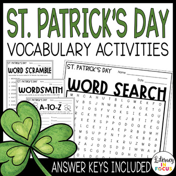 St. Patrick's Day Activities - Word Games