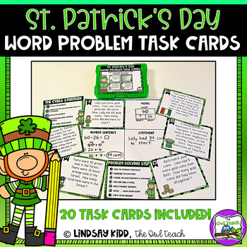 Second Grade Word Problems:  St. Patrick's Day Set