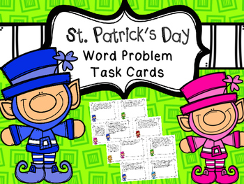 St. Patrick's Day Word Problems Fraction, Decimal, Percent