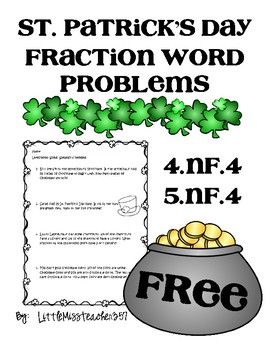 St. Patrick's Day Word Problems: Multiply Fractions