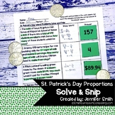 St. Patrick's Day Word Problems | Solve and Snip® | Math S