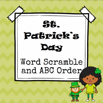 St. Patrick's Day Word Scramble and ABC Order Cut and Paste