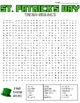 St. Patrick's Day Word Search: 3 Difficulties