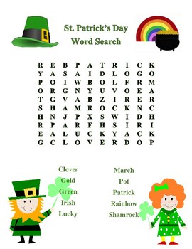 St. Patrick's Day Word Search