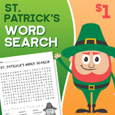 St. Patrick's Day Word Search Activity Homework
