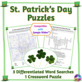 St. Patrick's Day Word Search & Crossword Puzzles: Print &