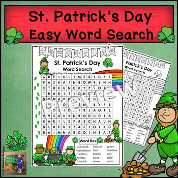 St  Patrick's Day Word Search - Easy