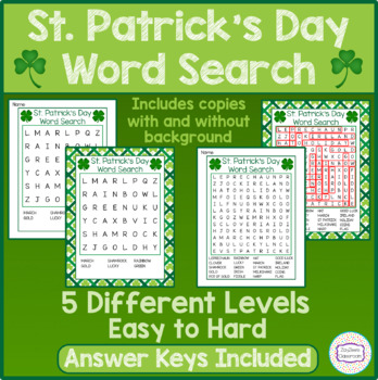 St. Patrick's Day Word Search - Fun Games & Activities