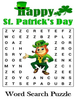 St. Patrick's Day Word Search Puzzle