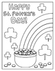 St. Patrick's Day Word Search and Coloring Page
