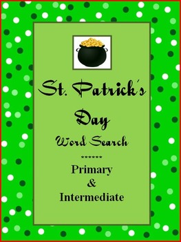 St. Patrick's Day Word Searches - Primary & Intermediate