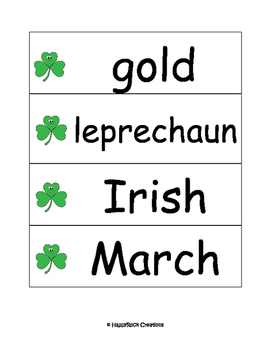 St Patrick's Day Word Cards