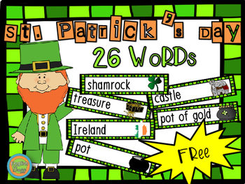St. Patrick's Day - Word Wall Vocabulary (26 words)