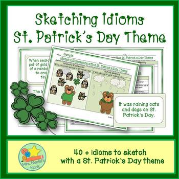 St. Patrick's Day Word Work - Idioms and Silly Sentences for Fluent Readers