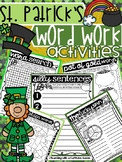 St. Patrick's Day Word Work - NO PREP - Use with ANY Word List
