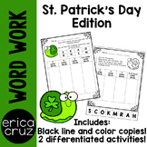 St. Patrick's Day Word Work and Literacy Center Activity