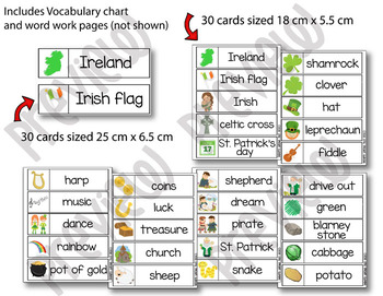 St. Patrick's Day Word Wall cards