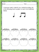 St. Patrick's Day--Worksheet pack for practicing rhythm &