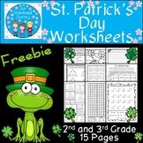 St. Patrick's Day Worksheets       {Freebie}