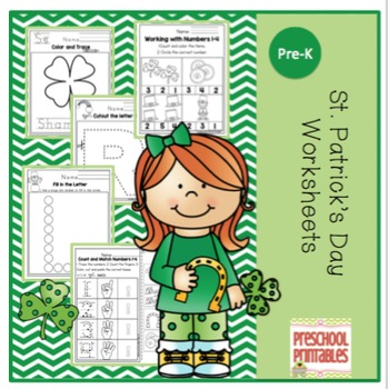 "St. Patrick's Day Worksheets ""No Prep"""
