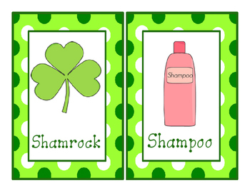 St. Patrick's Day Write-The-Room Sh-Digraph