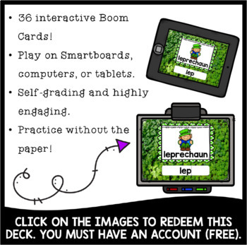 St. Patrick's Day Write the Room | Boom Cards Included