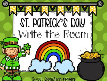 St. Patrick's Day Write the Room Activities for March