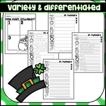 St. Patrick's Day Write the Room March Activity