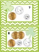 St. Patrick's Day Write the Room Adding Coins to 25 cents