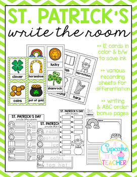 St. Patrick's Day Write the Room (Bonus Pages)