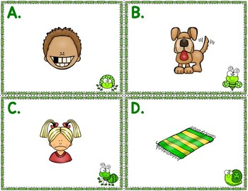 St. Patrick's Day Write the Room CVC Short A Phonics Game