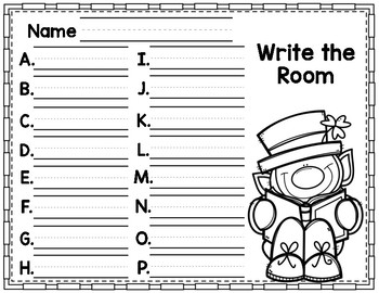 St. Patrick's Day Write the Room CVC Short I Phonics Game